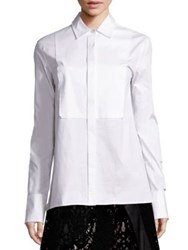 Dkny Stretch Cotton Tuxedo Shirt White