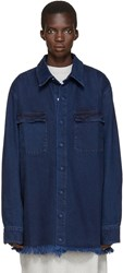 Marques Almeida Indigo Denim Oversized Shirt