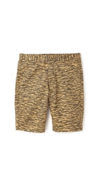 Folk Matchstick Shorts Mud Brown Print