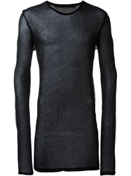 Julius Sheer Long Sleeves Sweater Black