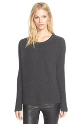 Women's Vince Ribbed Scoop Neck Cashmere Pullover