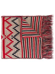Woolrich Woolen Mills Seasonal Pattern Scarf Multicolour