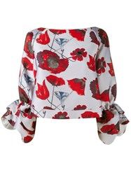 Osman Poppy Print Blouse Red