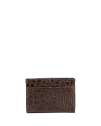 Santiago Gonzalez Crocodile Card Case Brown