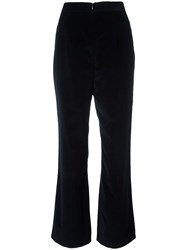 Marios Flared Loose Fit Trousers Blue