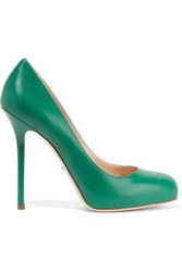 Sergio Rossi Barbie Leather Pumps Forest Green