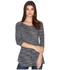 Roper 0536 Space Dyed Sweater Jersey Pieced Top Black Women's Sweater
