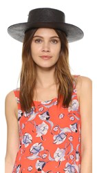 Indego Africa Boater Hat With Star Pin Black