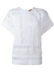 N 21 No21 Embroidered T Shirt White