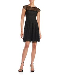Jessica Simpson Lace Overlay Illusion Dress Black