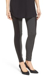 Nordstrom Women's Ponte And Faux Suede Leggings Grey