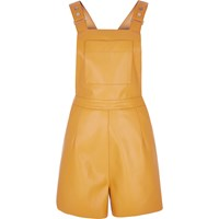 River Island Womens Yellow Fitted Playsuit