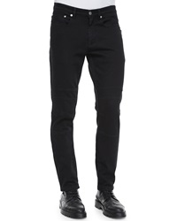 Belstaff Eastham Coated Slim Fit Moto Jeans Blue
