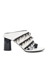 Proenza Schouler Studded Leather Mules In White