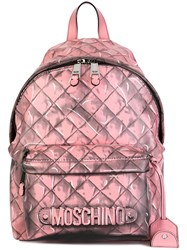 Moschino Trompe L'ail Backpack Pink And Purple