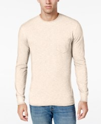 Club Room Men's Big And Tall Jersey Cotton Long Sleeve T Shirt Only At Macy's Winter Ivory