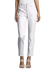 True Religion Straight Fit Solid Jeans Optic White