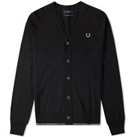 Fred Perry Fine Merino Cardigan Black