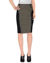 1 One Skirts Knee Length Skirts Women Military Green