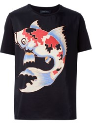 Christian Pellizzari Fish Print T Shirt Black