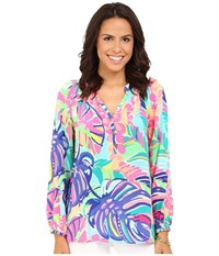 Lilly Pulitzer Elsa Top Multi Exotic Garden Women's Blouse