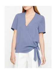 Reiss West Wrap Top Blue