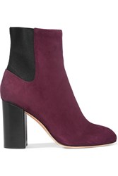Rag And Bone Agnes Suede Ankle Boots Burgundy