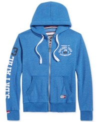 Superdry Men's Trackster Zipper Hoodie Royal Grit