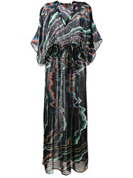 Missoni Swirl Colour Beach Dress Black