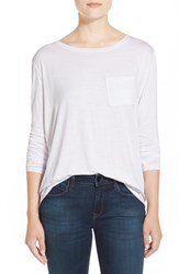 Women's Cj By Cookie Johnson Long Sleeve Pocket Tee White
