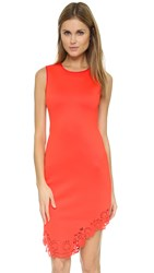 Clover Canyon Laser Hem Dress Red