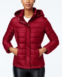32 Degrees Packable Hooded Puffer Coat Only At Macy's Carmine Red