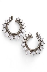 Nadri Women's Crystal Front Hoop Earrings