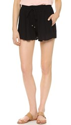 Splendid Crinkle Gauze Shorts Black