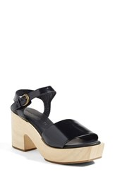 Rachel Comey Women's 'Pearce' Clog Sandal Black Satinado Leather