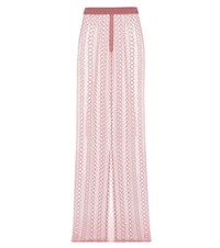 Burberry Embroidered Tulle Skirt Pink