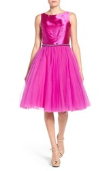 Mac Duggal Women's Embellished Tulle Party Dress Magenta
