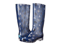 Toms Cabrilla Rain Boot Moonlight Blue Raindrop Print Women's Rain Boots