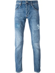 Love Moschino Distressed Skinny Jeans Blue