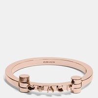 Coach Metal Hinged Bangle Rosegold