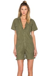 Obey Raleigh Romper Green
