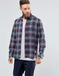 Penfield Ravens Check Button Shirt Brushed Cotton Grey