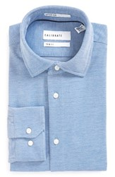 Calibrate Men's Big And Tall Trim Fit Dress Shirt Blue Provence