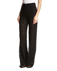 Adam By Adam Lippes Wide Leg Lace Pants Black