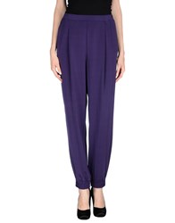 Diana Gallesi Trousers Casual Trousers Women Purple
