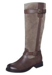 Tom Tailor Boots Browntaupe Dark Brown
