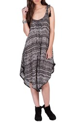 Volcom Women's Paved Dream Asymmetrical Hem Tie Shoulder Dress