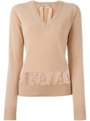Nao21 V Neck Jumper Pink And Purple