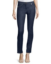 Escada Straight Leg Ankle Jeans Navy