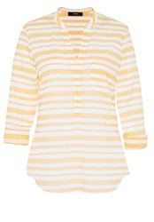 Hallhuber Tunic With Herringbone Inspired Stripes Yellow